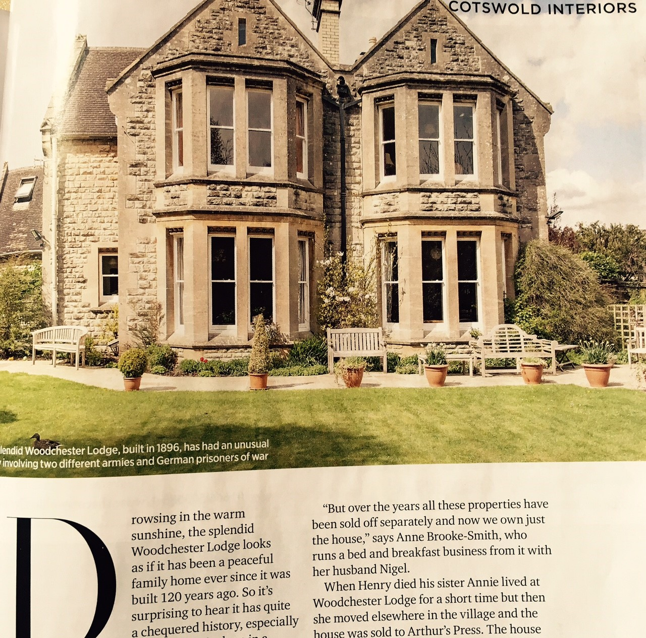 Woodchester Lodge features in Cotswold Life magazine